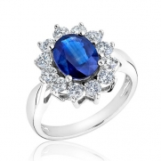 Sapphire and Diamond Ring 1ctw - Size 6