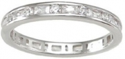 Sterling Silver Women's Eternity Anniversary Ring Size 8