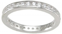 Sterling Silver Women's Stackable Eternity Ring Size 8