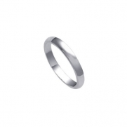 jc-a20-37-4 Sterling Silver 3mm Wedding Band Ring (Size 4