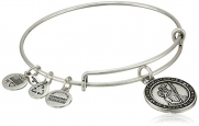 Alex and Ani Bangle Bar St. Christopher Rafaelian Silver Finish Expandable Bracelet