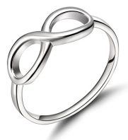 925 Sterling Silver Ring Forever Love Infinity Symbol Womens Wedding Engagement Band (5)