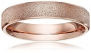 Athena Jewelry Titanium Series Brand New 4mm Women's Titanium Rose Gold Wedding Band Ring (Size Selectable) (8)